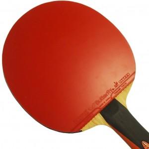 Tafeltennisbatje rood is de kant met zacht rubber