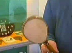 Pingpongbatje van schaapshuid - of is het toch Ping Pong batje