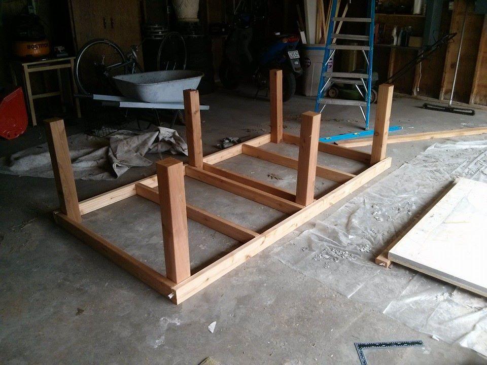 Tafeltennistafel zef maken en de afmetingen voor een houten frame