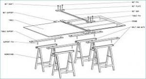 Tafeltennistafel zelf bouwen afmetingen