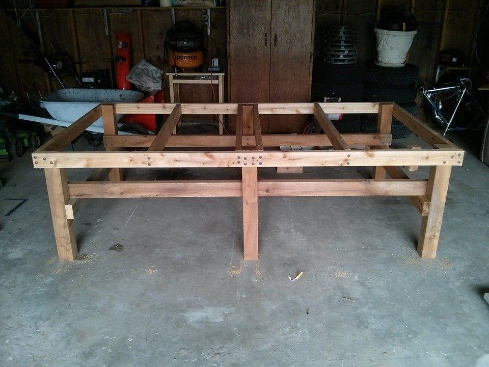 PingPongtafel zelf maken van hout
